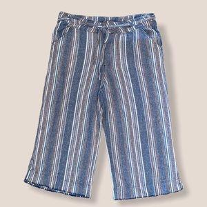 Democracy Striped Wide Leg Pants